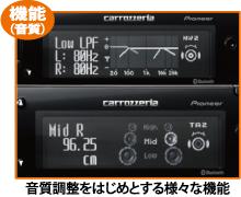 音質調整をはじめとする様々な機能