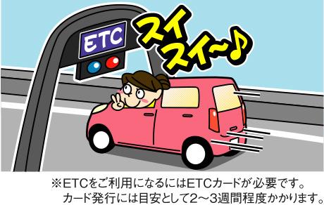 スピーディに料金所を通過できる「ETC」