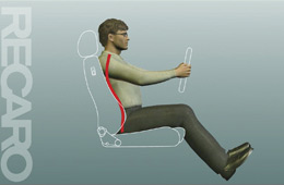 骨盤を三方向からしっかり支持するので、骨盤から伸びる背骨のラインを常に正しい状態(ゆるいS字カーブ)に保つことができます