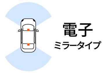 電子ミラータイプのドライブレコーダー